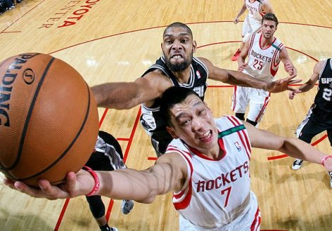 Jeremy Lin já sentiu na pele o que é enfrentar a defesa do Spurs